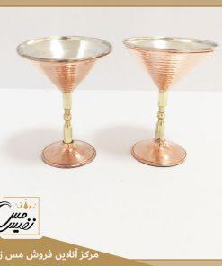 گلاسه پایه برنجی مسی مدل سالار ساخت زنجان
