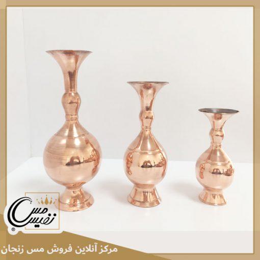 گلدان مسی طرح مارال تولید شده در زنجان