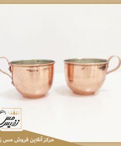 فنجان مسی چکشی نانو شده طرح نفیس تولید زنجان
