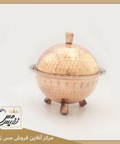 قندان مسی سه پایه مسی چکشی نانو شده تولید زنجان