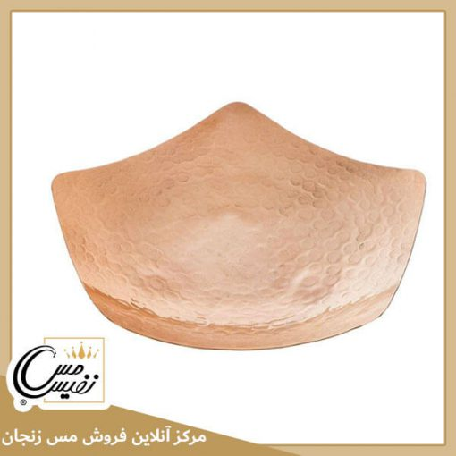بشقاب شیرینی و میوه خوری مسی 3 پایه برنجی مدل نفیس