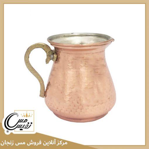 سس خوری مسی دسته برنجی مدل نفیس تولید زنجان - نانو شده با رنگ همیشه ثابت