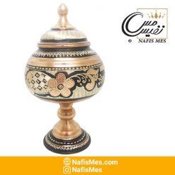 شکلات خوری مسی نقره کوب تولید زنجان